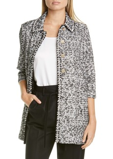 St. John Collection Modern Statement Tweed Knit Jacket