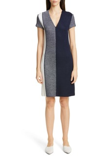 St. John Collection Modern Textured Intarsia Knit Dress