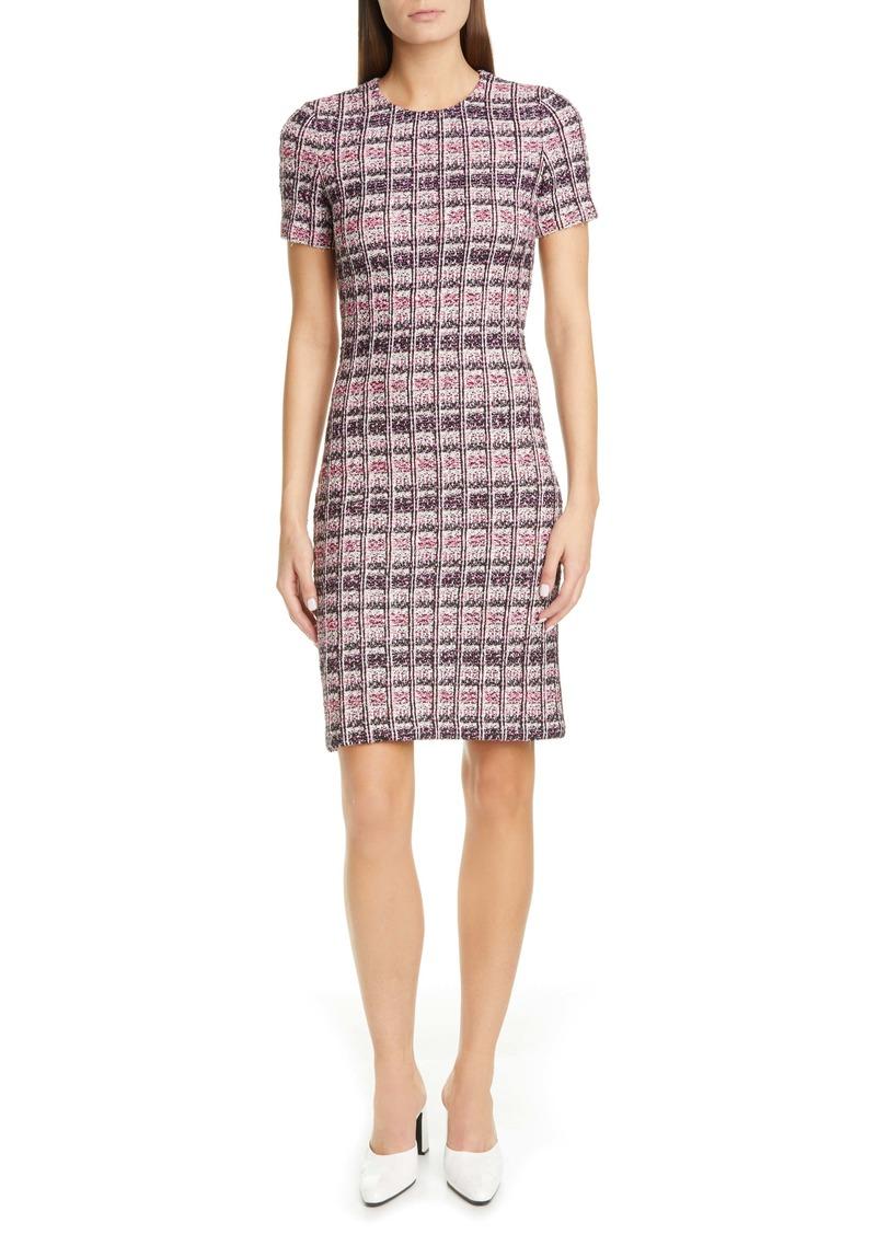 St. John Collection Monarch Textured Tweed Knit Sheath Dress