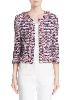 St. John Collection Montserrat Tweed Fringe Jacket