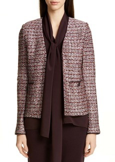 St. John Collection Multi Texture Inlay Knit Jacket