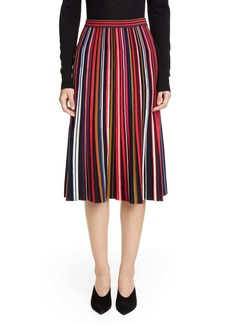St. John Collection Multicolor Fine Gauge Wool Blend Skirt
