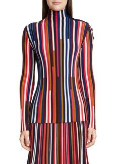 St. John Collection Multicolor Fine Gauge Wool Turtleneck