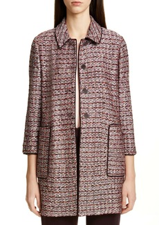 St. John Collection Multitexture Inlay Knit Jacket