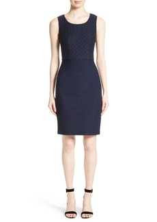 St. John Collection Newport Knit Diamond Dot Dress