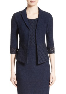 St. John Collection Newport Knit Diamond Dot Jacket