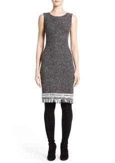 St. John Collection Nita Tweed Sheath Dress