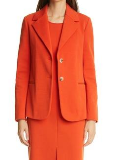 St. John Collection Notch Collar Milano Knit Jacket