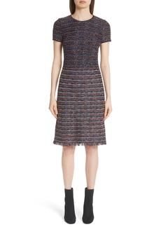 St. John Collection Ombré Ribbon Knit Dress