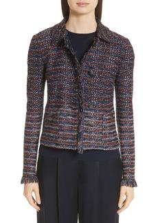 St. John Collection Ombré Ribbon Knit Jacket