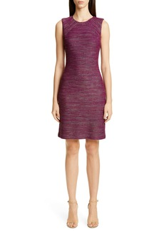 St. John Collection Ombré Ribbon Tweed Knit Dress