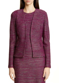 St. John Collection Ombré Ribbon Tweed Knit Jacket