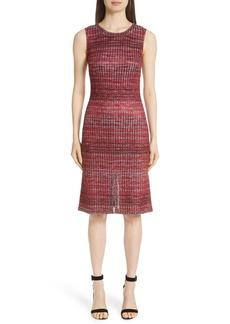 St. John Collection Ombré Shine Knit Dress