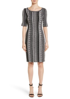 St. John Collection Ombré Stripe Tweed Knit Dress