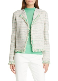 St. John Collection Ombré Taped Inlay Knit Jacket
