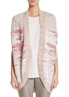 St. John Collection Ombré Textured Jacquard Knit Cardigan
