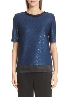 St. John Collection Paillette Knit Top