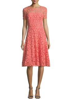 St. John Collection Paisley Guipure Lace Dress