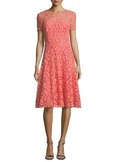St. John Collection Paisley Guipure Lace Dress