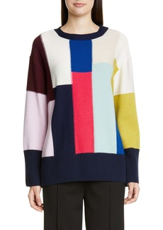 St. John Collection Patchwork Wool & Cashmere Sweater