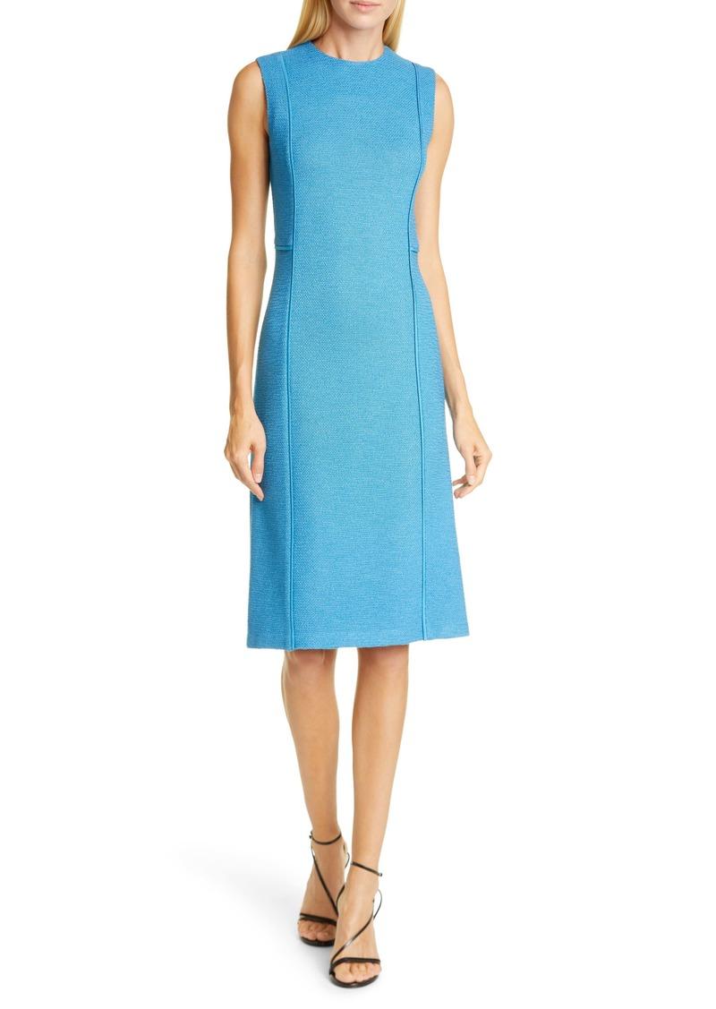 St. John Collection Pebbled Texture Knit Dress