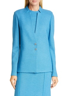 St. John Collection Pebbled Texture Knit Jacket
