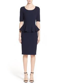 St. John Collection Peplum Milano Piqué Knit Dress