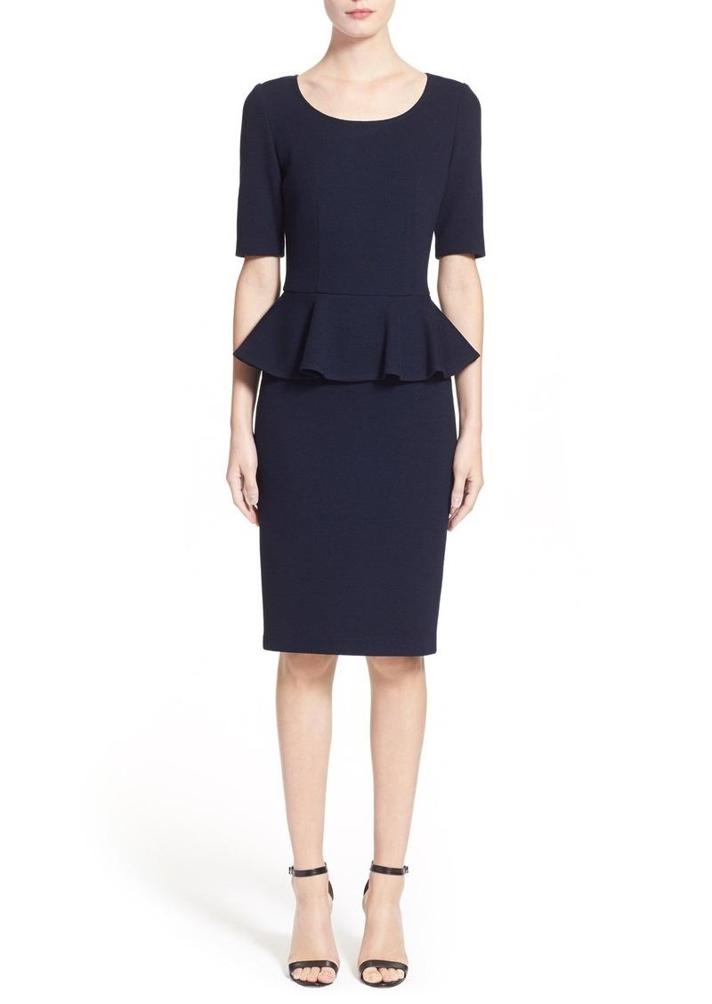 b0cfa5e96232 St. John St. John Collection Peplum Milano Piqué Knit Dress