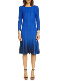 St. John Collection Perforated Knit Dress