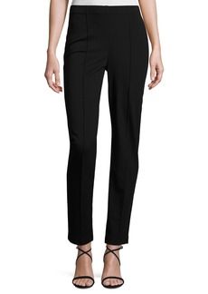 Ponte Cropped Pull-On Pants
