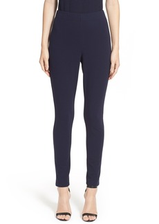 St. John Collection Ponte Knit Crop Leggings