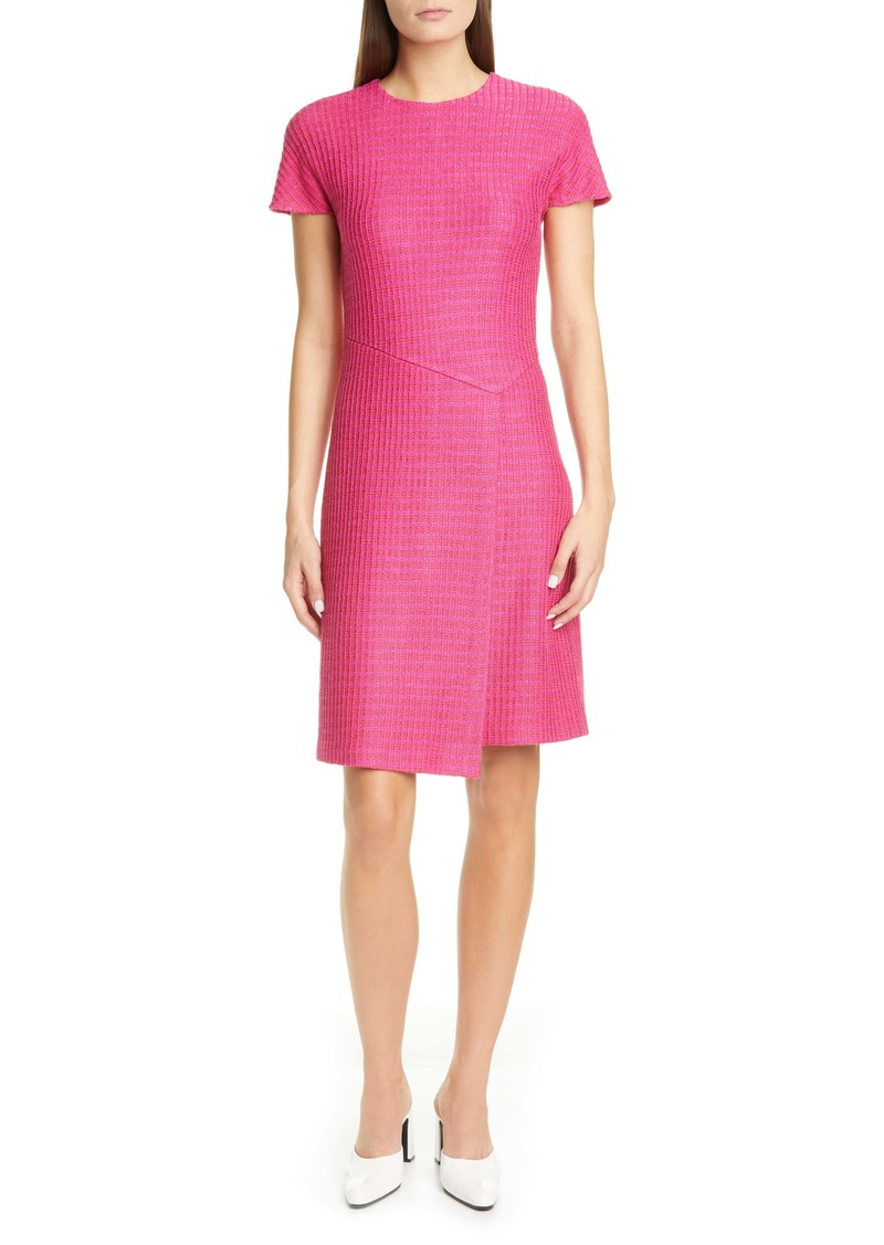 St. John Collection Poppy Novelty Textured Knit Dress