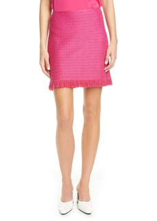 St. John Collection Poppy Textured Knit Skirt