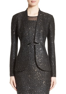 St. John Collection Pranay Sequin Knit Jacket