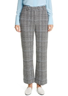 St. John Collection Prince of Wales Plaid Knit Crop Pants
