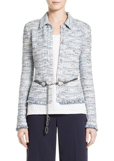 St. John Collection Prishna Space Dye Tweed Jacket