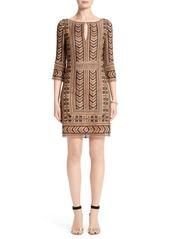 St. John Collection Priya Embroidered Shift Dress