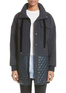 St. John Collection Quilted Stretch Tech Twill Jacket