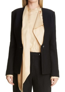 St. John Collection Raised Herringbone Knit Jacket