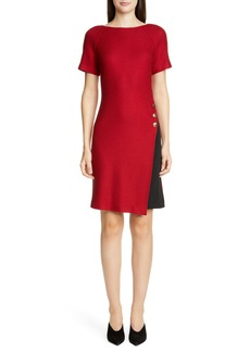 St. John Collection Refined Texture Float Stitch Sheath Dress