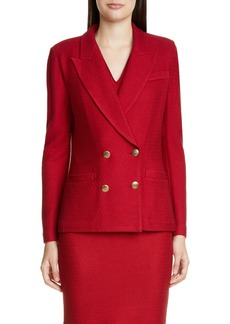 St. John Collection Refined Textured Float Knit Jacket