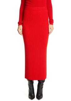 St. John Collection Rib Ankle Skirt