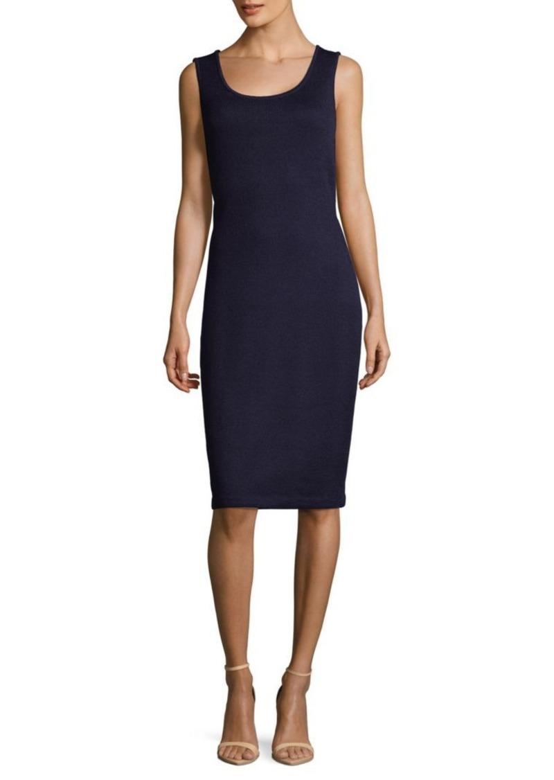 St. John Rib-Knit Knee-Length Dress