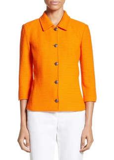 St. John Collection Ribbon Texture Knit Jacket