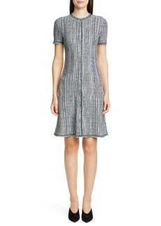 St. John Collection Ribbon Textured Inlay Knit Dress