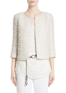 St. John Collection Sahara Fringe Jacket