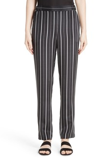 St. John Collection Sahara Stripe Stretch Silk Pants