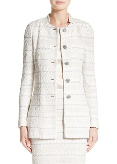 St. John Collection Samar Knit Tweed Jacket