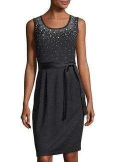 St. John Collection Santana Sparkle-Embellished Dress