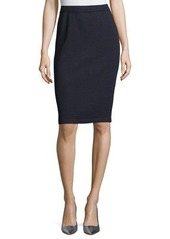 St. John Collection Santana Wool Knit Pencil Skirt